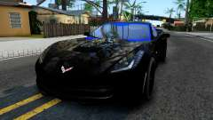 Chevrolet Corvette Stingray C7 2014 Blue Star для GTA San Andreas
