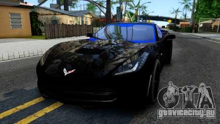 Chevrolet Corvette Stingray C7 2014 Blue Star для GTA San Andreas