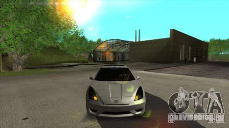 Toyota Celica Tunable для GTA San Andreas вид изнутри