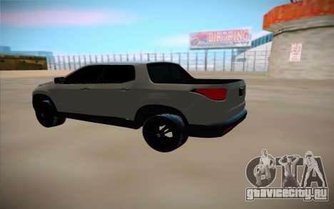 Fiat Toro для GTA San Andreas вид сзади слева