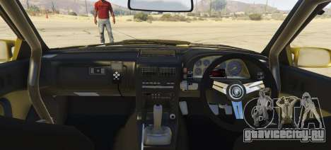 Mazda Fc3 BN SPORTS для GTA 5 вид сзади слева