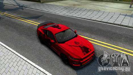 Ford Mustang Shelby GT350R 2016 Kirito Itasha для GTA San Andreas вид справа