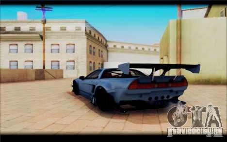 Honda NSXR Rocket Bunny для GTA San Andreas вид сзади