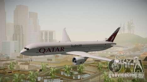 Boeing 787 Qatar Airways для GTA San Andreas вид сзади слева