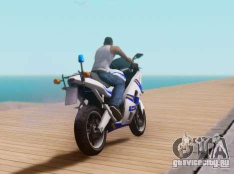 Croatian Police Bike для GTA San Andreas вид изнутри