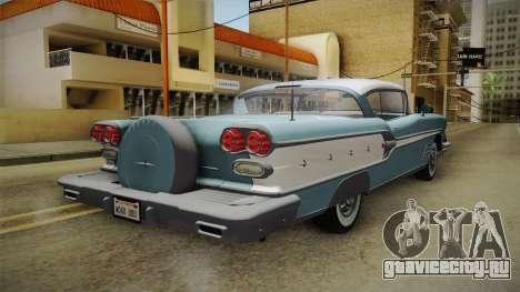 Pontiac Bonneville Hardtop 1958 IVF для GTA San Andreas вид сзади слева