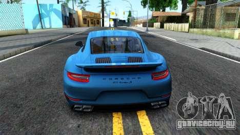 Porsche 911 Turbo S для GTA San Andreas вид сзади слева