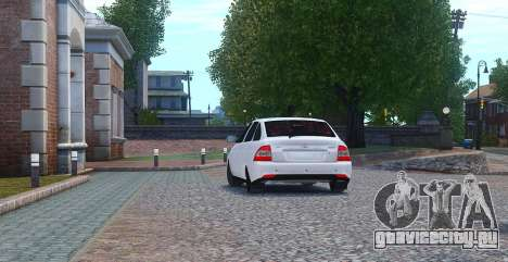 Lada Priora Hatchback для GTA 4 вид сзади слева