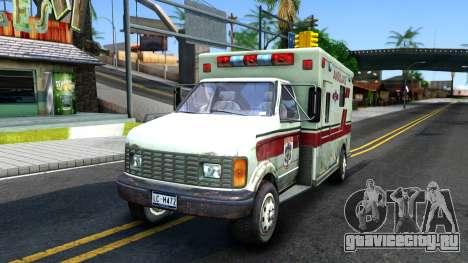 Resident Evil Ambulance для GTA San Andreas