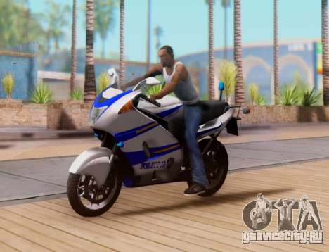 Croatian Police Bike для GTA San Andreas вид сверху
