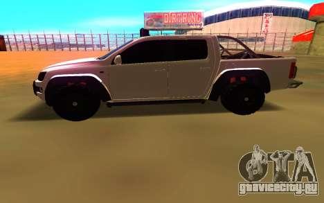 Volkswagen Amarok для GTA San Andreas вид слева