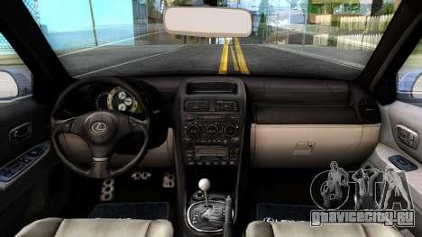 Lexus IS300 Rocket Bunny для GTA San Andreas вид изнутри