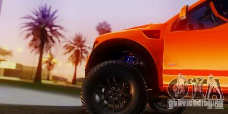 Ford F-150 Raptor LP Cars Tuning для GTA San Andreas вид сзади