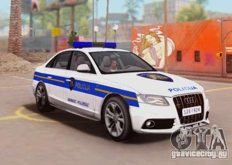 Audi S4 Croatian Police Car для GTA San Andreas вид сзади