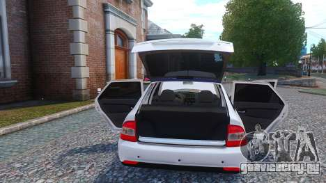 Lada Priora Hatchback для GTA 4 вид изнутри