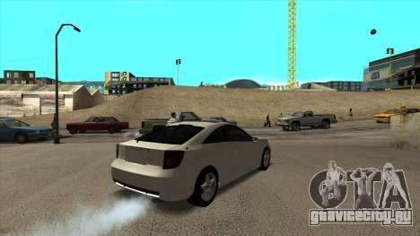 Toyota Celica Tunable для GTA San Andreas вид сзади
