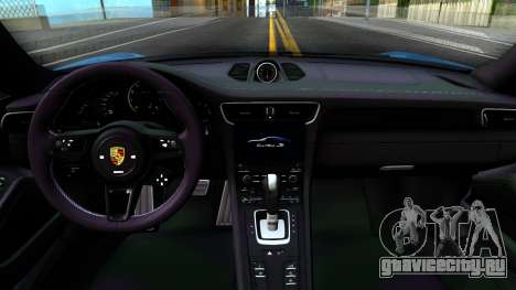 Porsche 911 Turbo S для GTA San Andreas вид изнутри
