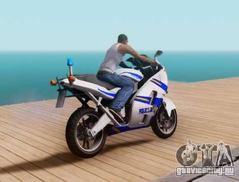 Croatian Police Bike для GTA San Andreas вид сзади