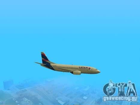 Боинг 737-300 авиакомпании Латинской Америке для GTA San Andreas вид справа