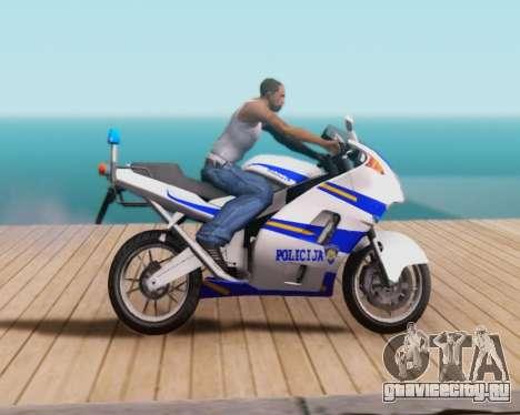 Croatian Police Bike для GTA San Andreas вид справа