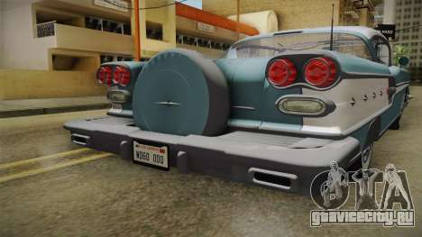 Pontiac Bonneville Hardtop 1958 IVF для GTA San Andreas вид сбоку