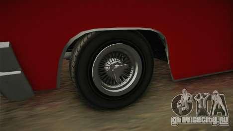 GTA 5 Declasse Voodoo 4-door для GTA San Andreas вид сзади