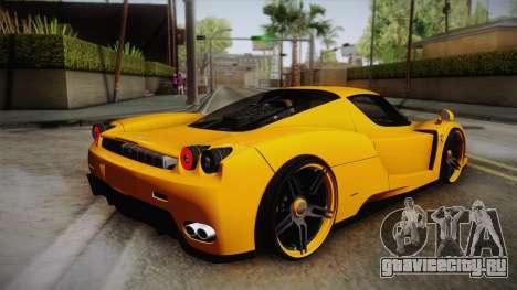 Ferrari Enzo Novitec Rosso для GTA San Andreas вид слева