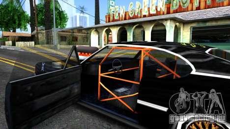 Ken Block Clover для GTA San Andreas вид изнутри
