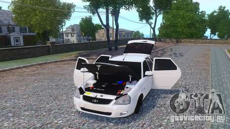 Lada Priora Hatchback для GTA 4 вид справа