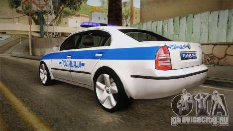 Skoda Superb Serbian Police v1 для GTA San Andreas