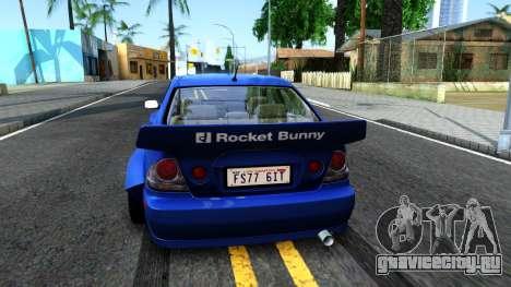 Lexus IS300 Rocket Bunny для GTA San Andreas вид сзади слева