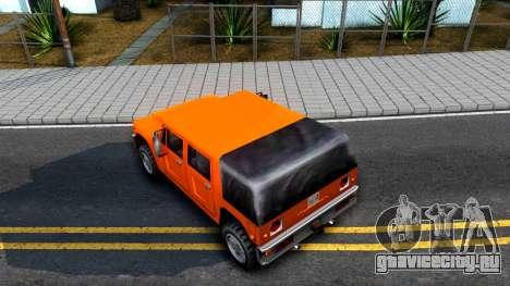 Civilian Patriot для GTA San Andreas вид сзади