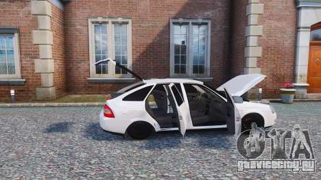 Lada Priora Hatchback для GTA 4 вид сзади