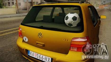 Volkswagen Golf Mk4 Stock для GTA San Andreas вид изнутри