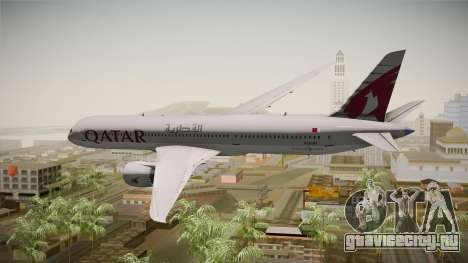 Boeing 787 Qatar Airways для GTA San Andreas вид справа
