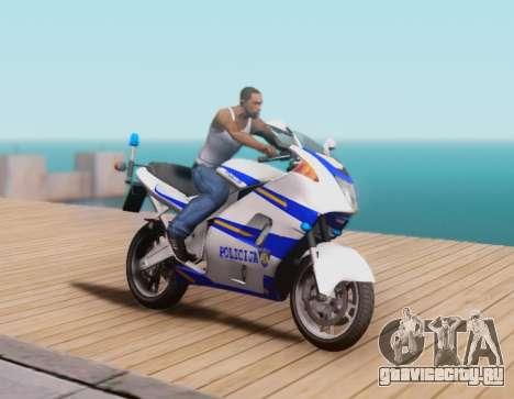 Croatian Police Bike для GTA San Andreas вид сзади слева