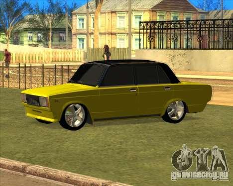 VAZ 2105 Golden Brodyaga Tuned для GTA San Andreas вид слева