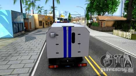 Урал NEXT Полиция для GTA San Andreas вид сзади слева