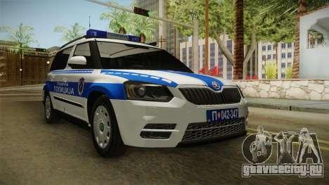 Škoda Yeti Serbian Border Police для GTA San Andreas