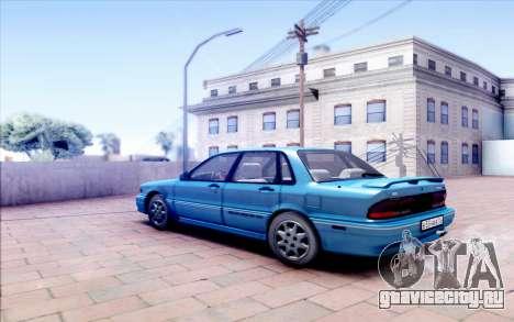 Mitsubishi Galant VR-4 для GTA San Andreas вид сзади слева