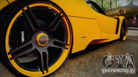 Ferrari Enzo Novitec Rosso для GTA San Andreas вид изнутри