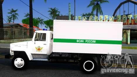 ГАЗ-3309 ФСИН России для GTA San Andreas вид слева