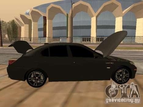 BMW M5 E60 Armenian для GTA San Andreas вид сбоку