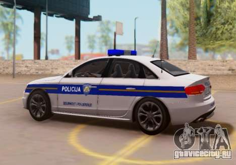 Audi S4 Croatian Police Car для GTA San Andreas вид слева