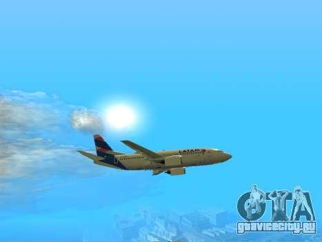 Боинг 737-300 авиакомпании Латинской Америке для GTA San Andreas вид сзади слева