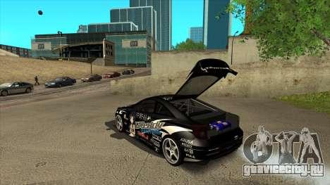 Toyota Celica Tunable для GTA San Andreas вид снизу