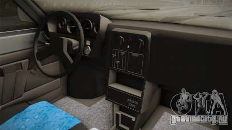 Škoda 120 Stock для GTA San Andreas вид изнутри