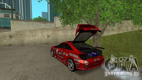 Toyota Celica Tunable для GTA San Andreas салон