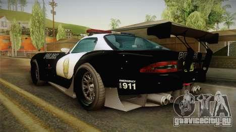 GTA 5 Bravado Banshee Supercop для GTA San Andreas вид слева