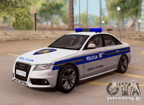 Audi S4 Croatian Police Car для GTA San Andreas